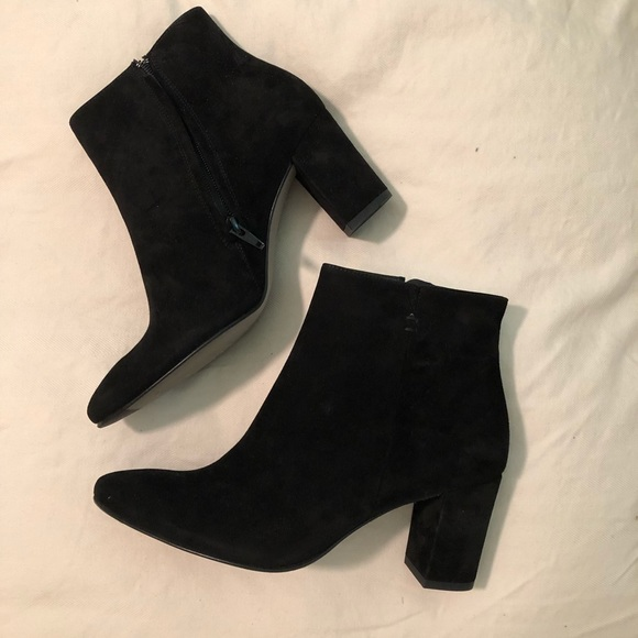Paul Green Black Suede Ankle Boots